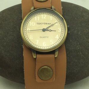 TOKYObay Tan Buckle Watch (1086)